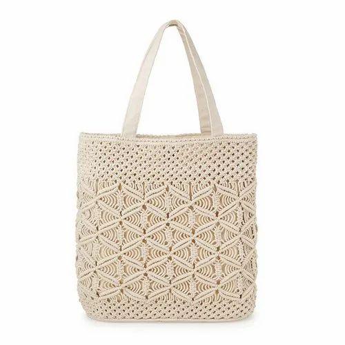 7e4e9127118 Cotton Stylish Macrame Handbag, Shabana Exports & Imports | ID ...