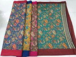 Printed Jute Silk Saree