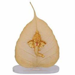 Om Sai Golden Gold Plated God Leaf
