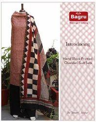 Bagru Printed Chanderi Suits Sets