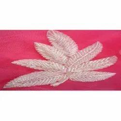 Fancy Leaf Shape Beaded Patch