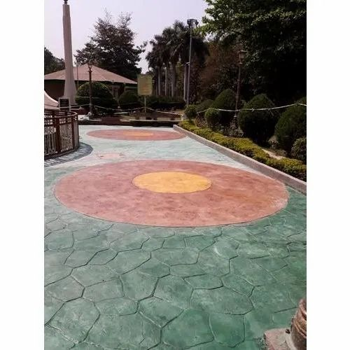 Outdoor Stamped Concrete, Thickness: 10-35 mm, for Outdoor Flooring