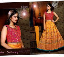 Party Wear Silk Ghaghra Choli
