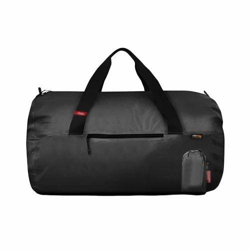 Black Nylon Plain Duffle Bags e9011160f90c5