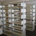 Steel 1800 Mm Double Side Library Rack