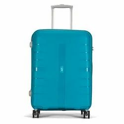 VIP PP Voyager Teal Blue Hard Luggage Upright Travel Trolley Bag