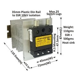 150 AMP DC TO AC SOLID STATE RELAY