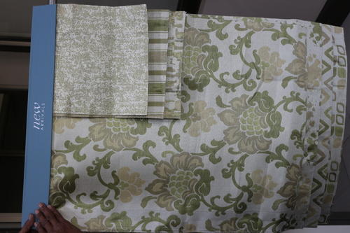 Kota Fancy Curtain Fabric with 6 Designs & 6 Colors