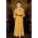 3/4th Sleeves Yellow Designer Gown