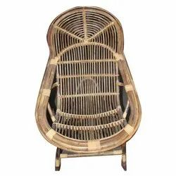 Brown Cane Relaxing Chair, 24*25*40 Inch Lbh