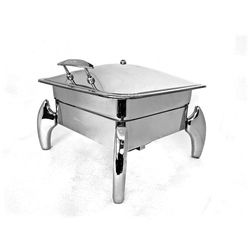 Grand Square 2/3 Lift Top Chafer with Tiger Legs