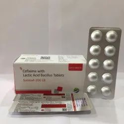 Cefixime With Lactic Acid Bacillus Tablets