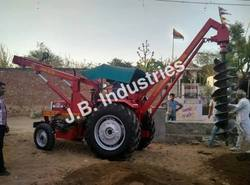 Mild Steel Tractor Mounted Pit Making Machine, Digging Capacity: 7 to 9 m
