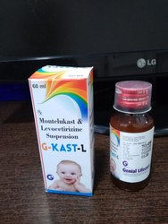 Each 5 ml Levocetirizine 2.5 mg Montelukast 4 mg