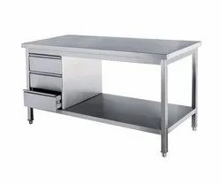 Silver Stainless Steel Working Table