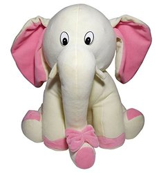 White and Pink Elephant Toy