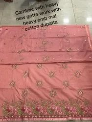 Exclusive Kashmiri Unstitched Cotton Cambric Suit