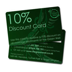 Plastic Discount Card