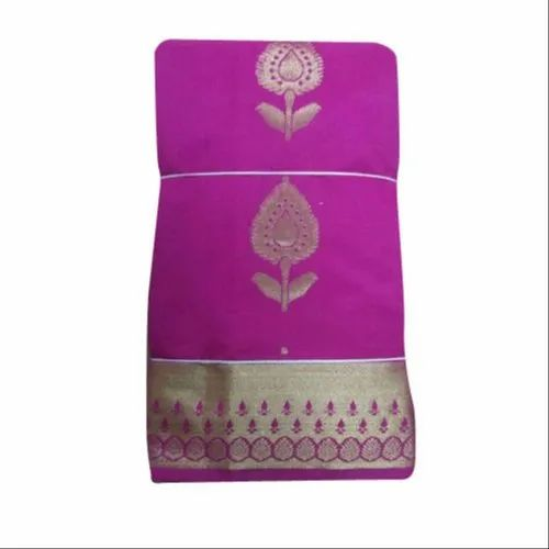 Party Wear Indian Silk Saree, Machine Made, 6 m (with blouse piece)