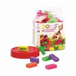 Doms Colour Eraser Jar (100 Pcs )