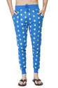Mens Star Printed Ribbed Slim Fit Track Pant