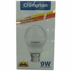 Ceramic 9 W Crompton LED Light Bulb