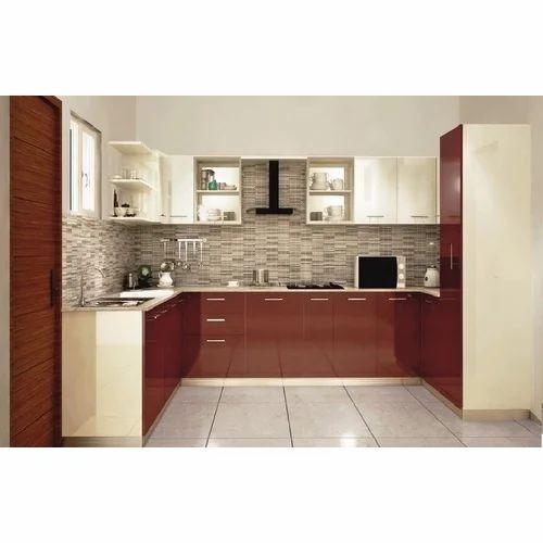 modular kitchen - l shaped designer kitchen authorized wholesale