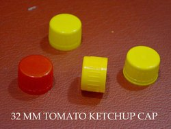 yellow Plastic cap For ketchup bottle, 32mm