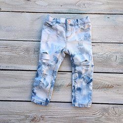 Denim Light Blue Kids Distressed Ripped Jeans