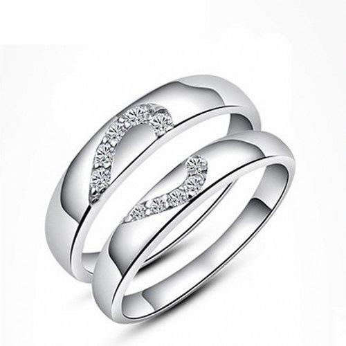 Silver Couple Ring Silver Rings च द क अ ग ठ
