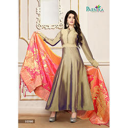 Golden Anarkali Suit