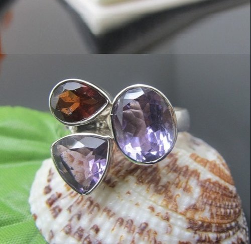 Garnet and Amethyst Ring