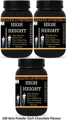 Health Ayurveda High Height Height Badhane Ki Dawa (chocolate Flavour) 100  Gms Powder (pack Of 3)