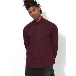 Mens Maroon Clubwear Shirt