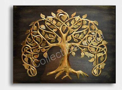 Collectible India Metal Mdf Panel Golden European Tree Of Life Wall Decor Metal Wall Decoration Walls Metal Artwork म टल व ल आर ट Bansal Handicrafts Jaipur Id 22010589433