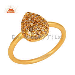 18k Gold Plated Diamond Engagement Ring