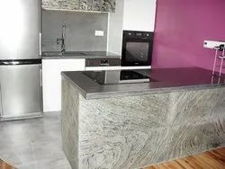 Grey Stone Kitchen Veneer Sheet