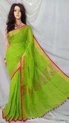 Premium organic linen handloom saree