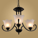 Modern Retro Chandelier for Kitchen Bedroom Hanging Antique Iron Chandelier American Style