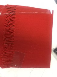 Ladies Merino Wool Red Muffler