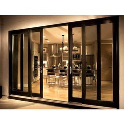 Brown Fenesta UPVC Sliding Door, for Home, Hotel etc, Thickness Of Glass: 5 To 40mm
