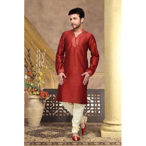 c94994a19c2 Mens Party Wear Plain Kurta