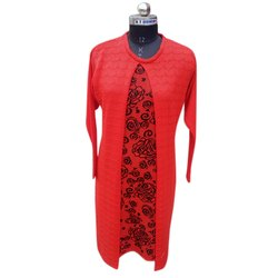 Red Ladies Woolen Kurti