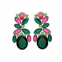Multi Gemstone 925 Sterling Silver Earring Jewelry