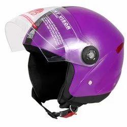 JMD Purple Grand Half Face Helmet
