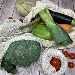 India Cotton Mesh Produce Reusable Bag