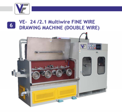 VE 24/2.1 Multiwire Fine Wire Drawing Machine (Double Wire )