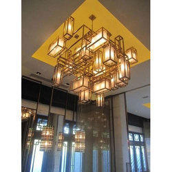 Glass Brass Chandelier