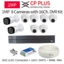 Cp Plus 1mp 8 Cctv Camera With 16ch. Dvr Kit, Usage: Indoor Use