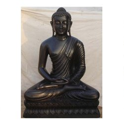 God Buddha Black Marble Statue